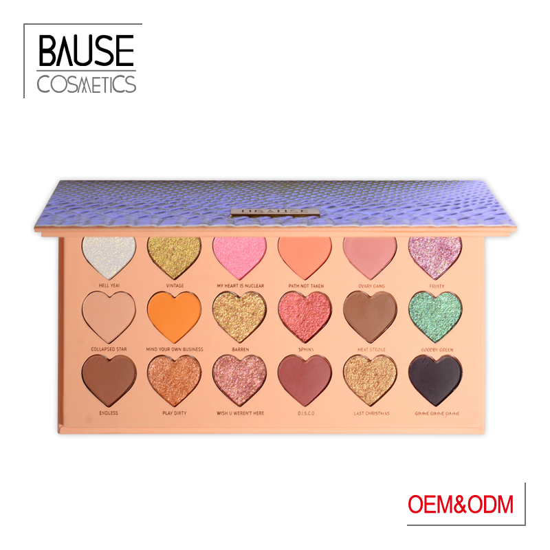 Bause cosmetics heart shope eyeshadow palette
