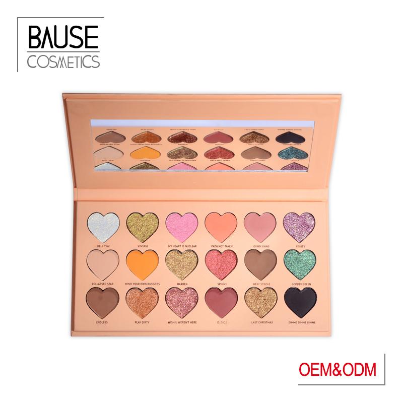 Bause cosmetics pinky heart shape eyeshadow palette