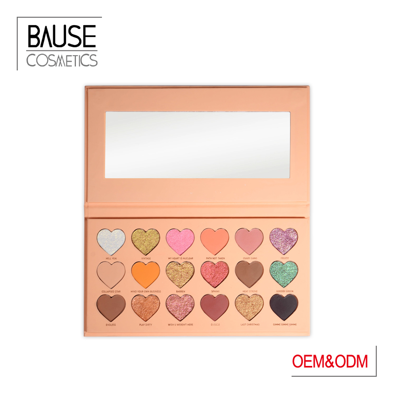 Heart shape hand made eyeshadow palette