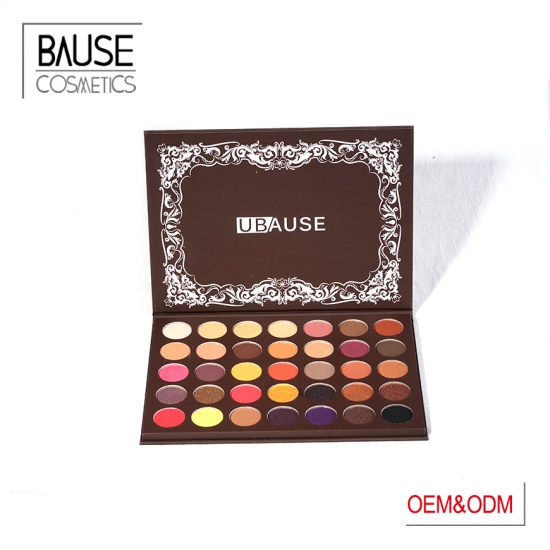 Warm and Charming 35 colors paper box eyeshadow palette